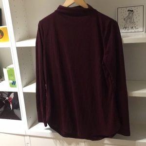 Ann Taylor mock neck sweater in beautiful wine